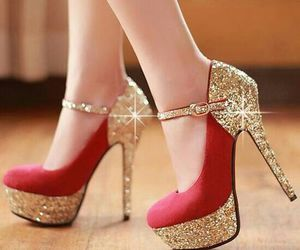 gold, red, and shoes image