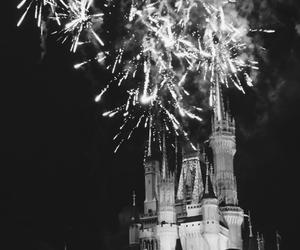 castle, fireworks, and disney image