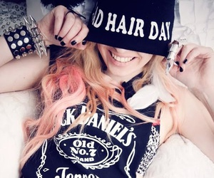 girl, style, and jack daniels image
