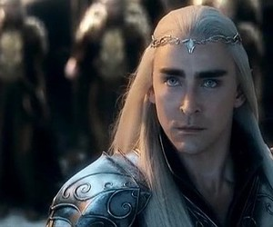 the hobbit, thranduil, and elf image