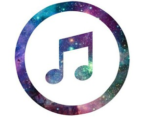 music, overlay, and galaxy image