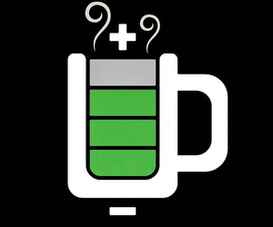 battery, coffee, and cup image