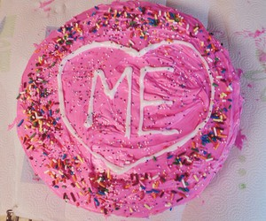 cake, pink, and me image