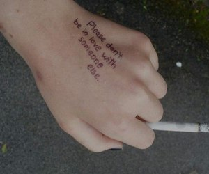 love, cigarette, and grunge image