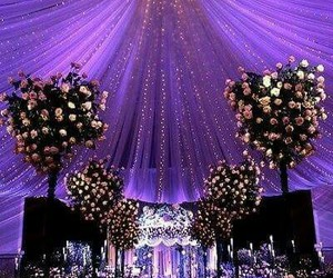 wedding, flowers, and light image