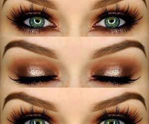 eyes, makeup, and love image