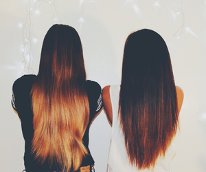 hair, best friends, and ombre image