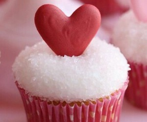 cupcake, heart, and sweet image