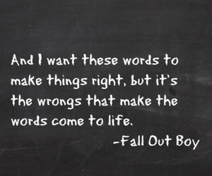 fall out boy and Lyrics image