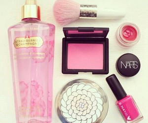 pink, nars, and makeup image