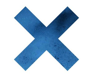 blue, dark, and x image
