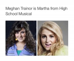 lol, meghan trainor, and she is dumb adds image