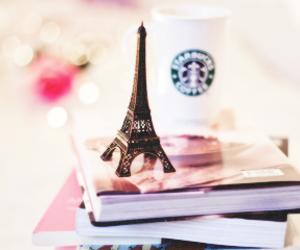 book, paris, and coffee image