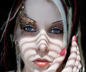 make up and piercing image