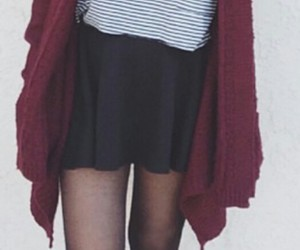 black tights, grey t-shirt, and black booties image