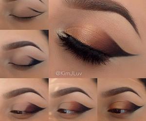 eyebrow, eyes, and makeup image