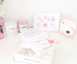pink, room, and book image