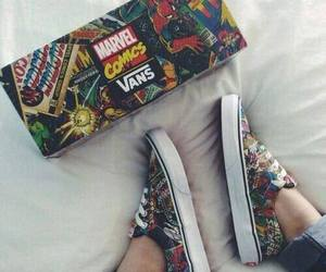 comics, kicks, and vans image