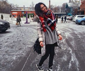 girl, clothes, and cold image