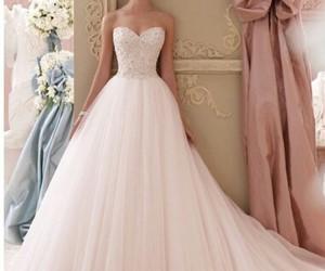 dress, wedding, and wonderful image