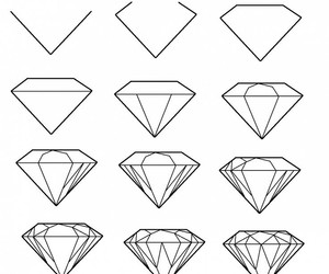 diamond, drawing, and diy image
