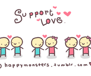 love, boy, and support image