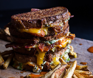 buffalo, cheese, and grilled cheese image
