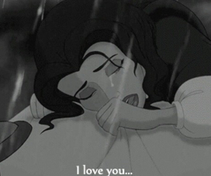 beauty and the beast, tears, and belle image