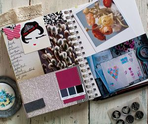 diary, inspiration, and stamps image