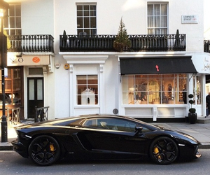 black, car, and london image