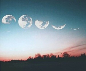 moon, sky, and night image