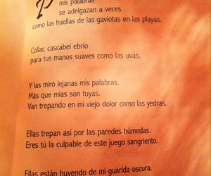 melancholy, pablo neruda, and poetry image