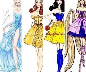 art, princesses, and disney image