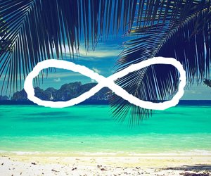 infinity, beach, and summer image