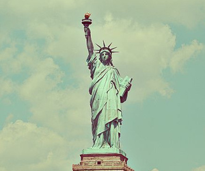 liberty, statue, and usa image