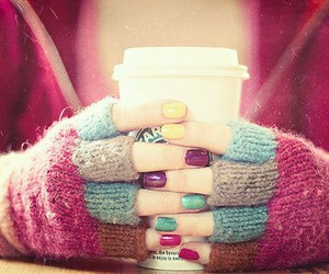 coffe, coffee, and nails image