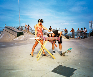 couple, skater, and love image