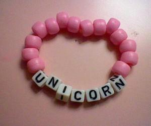 unicorn, pink, and bracelet image