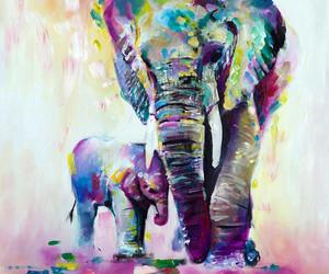 art, elephant, and draw image