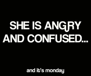 text, monday, and angry image