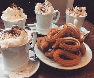 food, chocolate, and churros image