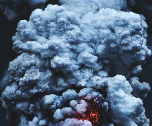 smoke, explosion, and fire image