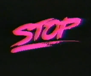 grunge, stop, and pink image