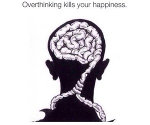 overthinking, brain, and happiness image