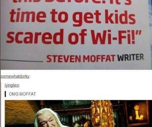 doctor who and steven moffat image