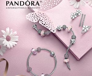 bracelet, flower, and pandora image