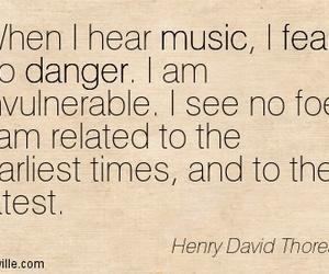 danger, henry david thoreau, and music image