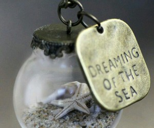 sea, necklace, and ocean image