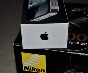apple, camera, and nikon image