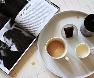coffee, magazine, and food image